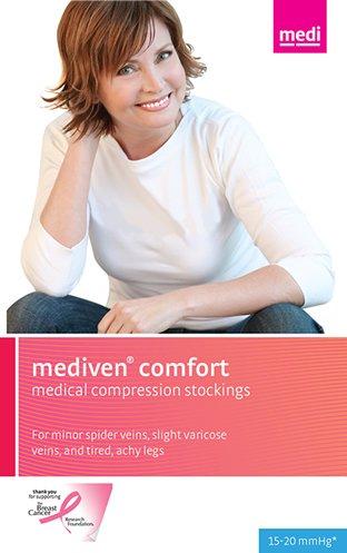 - Mediven Comfort 15-20 mmHg Closed Toe Compression Stockings Knee Highs VII Petite, Mocha