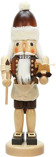 German Christmas Nutcracker Santa Claus with toys natural - 42,0cm / 16.5inch - Christian Ulbricht by Christian Ulbricht