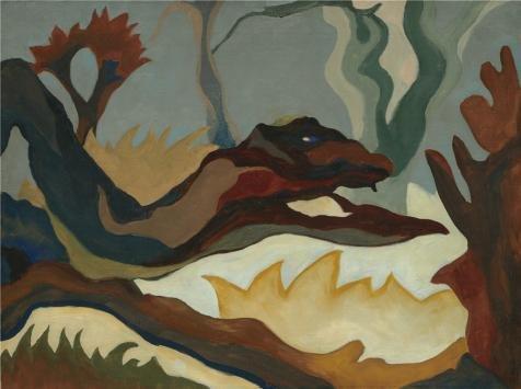 ポリエステルキャンバス、The Amazingアート装飾キャンバスプリントの油絵`アーサーガーフィールドドーブ、ツリー、1934`、30x 40インチ/ 76x 102cmはのBestスタディ装飾、ホームギャラリーアートとギフトの商品画像