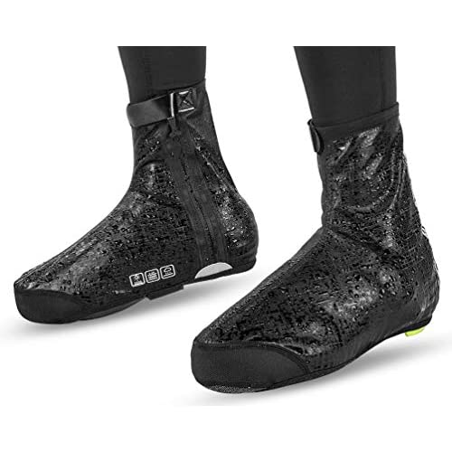 RockBros Cycling Shoe Covers Winter Warm Windproof Protector Overshoes Black