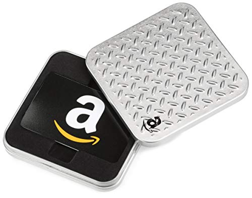 Amazon.com Gift Card in an Diamond Plate Tin (Best Christmas Birthday Gifts)