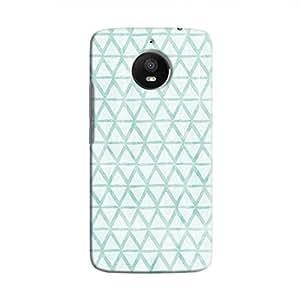 Cover It Up - Triangle Print Blue Moto E4 Plus Hard Case