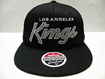 NHL Los Angeles Kings Black Custom Retro Snapback Cap