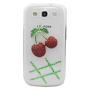 xiao Zircon Cherry Pattern Transparent Body Case for Samsung Galaxy S3 I9300