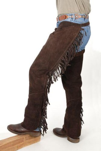 Tough-1 Western Fringed Chaps, Brown, Large JT International 63-88-7-103