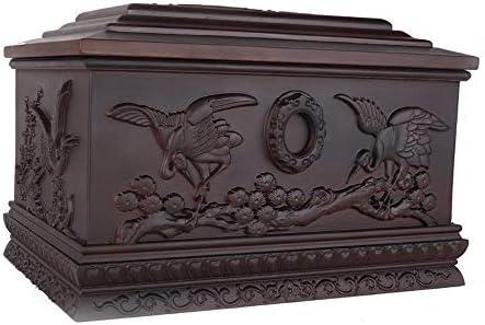 灰大人の骨壷 人間の灰大人のための壺 - 360ポンド大人までの大サイズはめあいの名残り - 職人彫刻木彫りのパターンをクリアライン(13.4x9.1x8.9インチ) BUYT