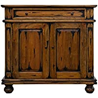 NES Furniture Nes Fine Handcrafted Furniture Solid Mahogany Wood Ontario Cabinet / Sideboard Buffet - 36'