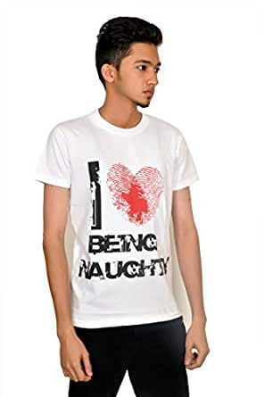 Droit Chemin Dc115 Crew Neckline Boy'S T-Shirt - L, White