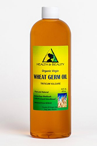 (Wheat Germ Oil Organic Unrefined by H&B OILS CENTER Raw Virgin Cold Pressed Premium Quality Natural Pure 16 oz)
