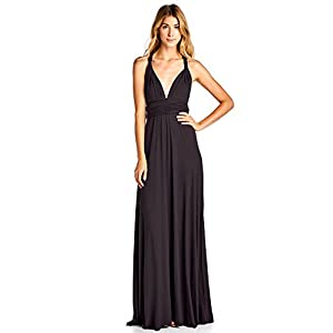 12 Ami Solid Convertible Multi Way Long T-Shirt Maxi Dress – Made in USA