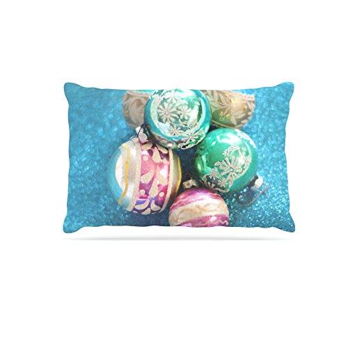 Kess InHouse Sylvia Cook Vintage Glass  Fleece Dog Bed, 50 by 60 , bluee