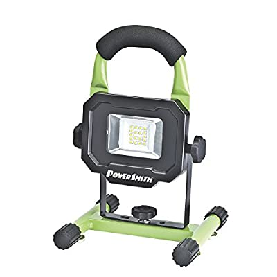 PowerSmith PWLR1110M Rechargeable 10W 900 lm LED Work Light with Magnetic Base