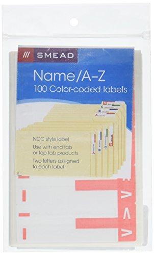 (Smead AlphaZ NCC Color-Coded Labels, Letters I&V, Pink, 100 Labels per Pack (67160))
