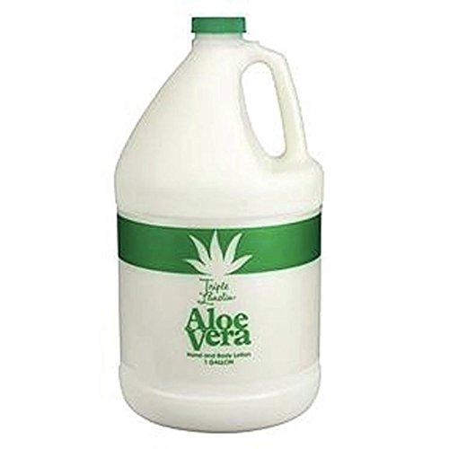 - TRIPLE LANOLIN Aloe Vera Lotion,1 Gallon