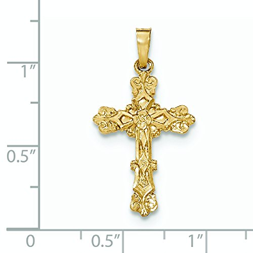 Poli 14 carats ont bourgeonné pendentif-JewelryWeb