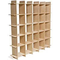 Modern Wood Cube Bookcase, Folding Bookcase, American Made