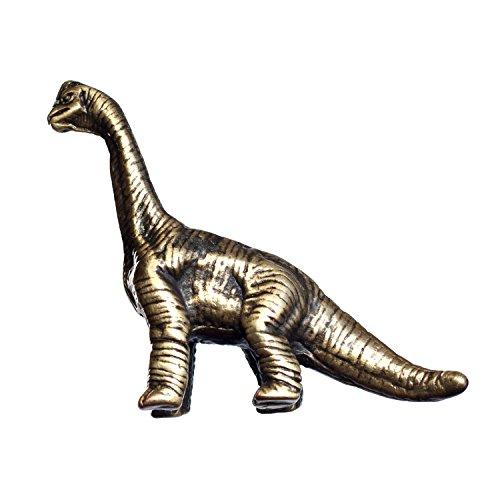 (Big Sky Hardware Sierra Lifestyles Brachiosaurus Dinosaur Knob, D3, Left Facing, Antique Brass)