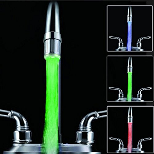 Best Review Of 2 pack Colorful LED Water Faucet, Maelu Water Stream Faucet Tap,7 Color Gradually Cha...
