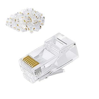 amazon com cat6 rj45 ends cablecreation 100 pack cat6 connector cat6 rj45 ends cablecreation 100 pack cat6 connector cat6a cat5e rj45 connector
