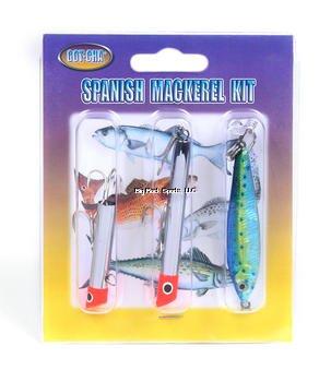 GOT-CHA GSMK Spanish Mackerel Kit G1601 G1001 JF1-BYS, 3-Pack