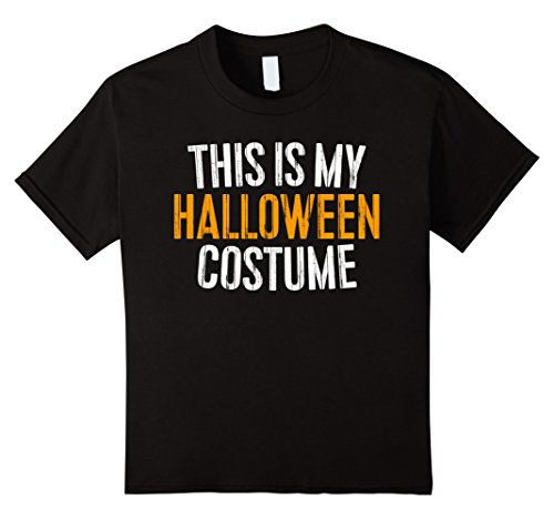 [Kids This Is My Halloween Costume T-Shirt 12 Black] (Mother And Son Halloween Costumes)