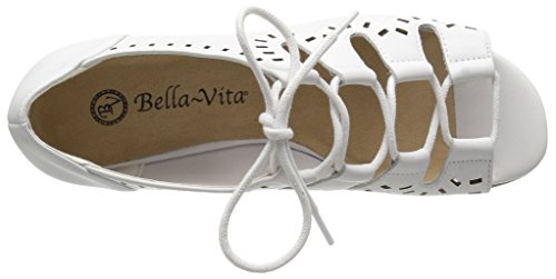 Bella Vita Kvinners Prescott Kile Sandal Hvit