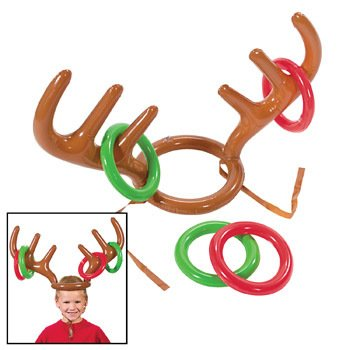 Fun Express Inflatable Reindeer Antler Ring Toss Game - Christmas Presents