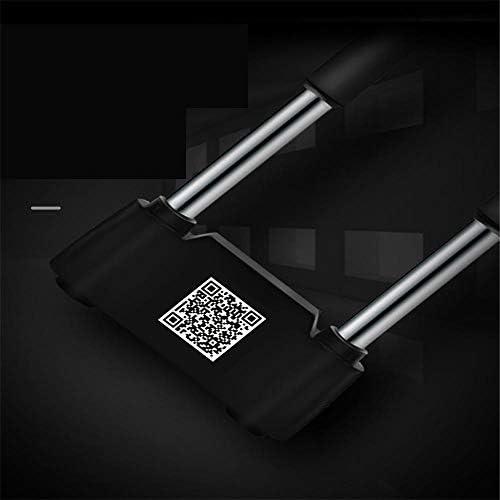 電子ドアロック スマートブルートゥースキーレスU型ロック充電式アンチセフト電話APP制御パスワードドアロックセキュリティロック 電子錠 (Color : Black, Size : One size)