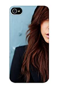 Markrebhood Premium Protective Hard Case For Iphone 4/4s- Nice Design - Brunettes Women Closeup Lips Open Mouth Hats Faces Taylor Mccutchan