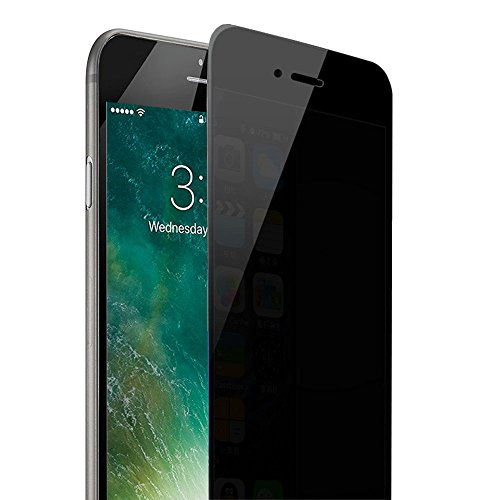 iPhone 7 plus / 8 plus Privacy Screen Protector, Ankoon Anti-Spy Tempered Glass Screen Protector Premium 0.3mm 9H HD 2.5D Curve Edge Anti-Scratch, Anti-Fingerprint, Easy Install