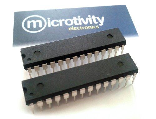 microtivity Pack of 2 ATmega328 8-bit AVR Microcontrollers w/ 32KBytes ISP Flash