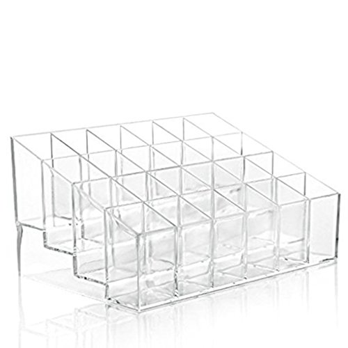 Zehui 24 Stand Transparent Plastic Trapezoid Acrylic Makeup Cosmetic Organizer Display - Scratches Polish Can Out Of You Plastic
