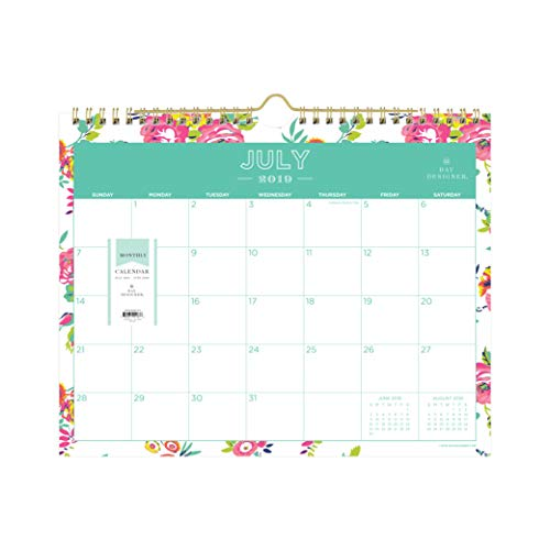 Day Designer for Blue Sky 2019-2020 Academic Year Monthly Wall Calendar, Twin Wire Binding, 11