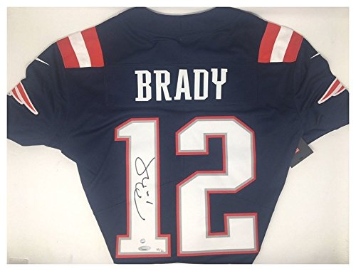 Tom Brady Signed Autograph Patriots Nike Color Rush Navy Jersey - Certified (Patriots Authentic Jersey)