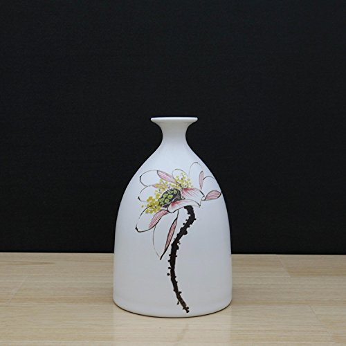 White Ceramic Vases With differing Unique Design For Home Décor – Set of 3pcs by YAMEIJIA555 (Image #3)