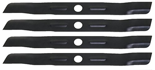 Low Lift Mower Blade - USA Mower Blades (4 BD19BP Low Lift Mulching Blade Replaces Black and Decker 905541433 Length 18 1/2 in. Width 1 3/4 in. Thickness .150 in. Center Hole 1 in.