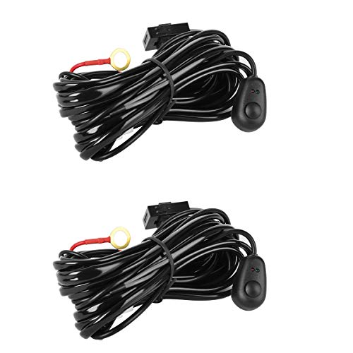 Eyourlife Wiring Harness,2Pcs LED Light Bar Wiring Harness K
