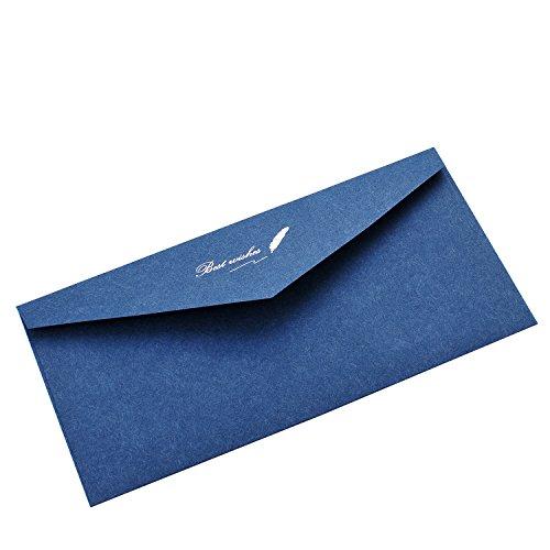 Business Envelopesjoseche 10 Pcs Greeting Card Envelopespure Color