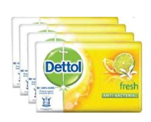 Dettol Bar Soap Fresh 4x105g - Keeps You Germ Free,soap is Also Very Gentle on The Skin