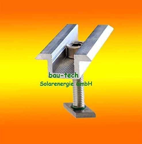 6 Modul Mittelklemmen Standard 35mm von bau-tech Solarenergie