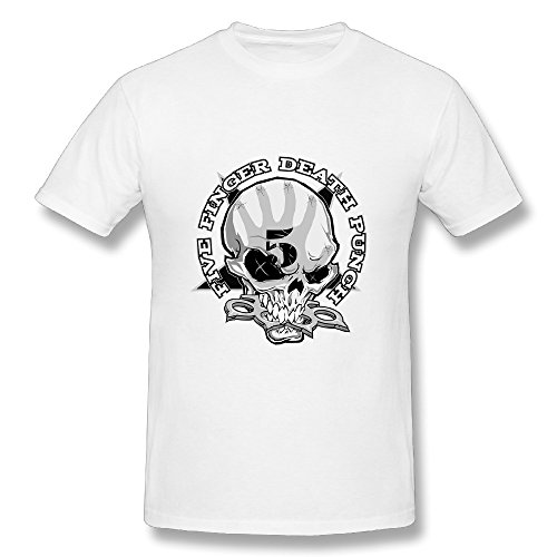 - Best White T Shirt For Men Metal Band Five Finger Death Punch Logo