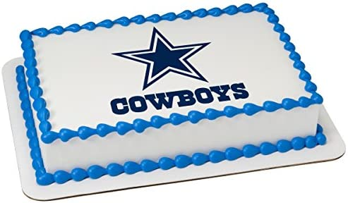 Excellent Amazon Com Nfl Dallas Cowboys Licensed Edible Sheet Cake Topper Personalised Birthday Cards Paralily Jamesorg