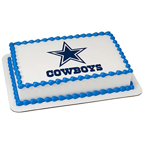 NFL Dallas Cowboys Licensed Edible Sheet Cake Topper #22877 -