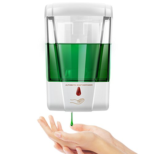 StillCool Automatic Soap Dispenser, 20oz/600ml Premium Touchless Wall Mount Soap Dispenser Battery Operated Infrared Sensing Ultra-Sensitive, No Waste