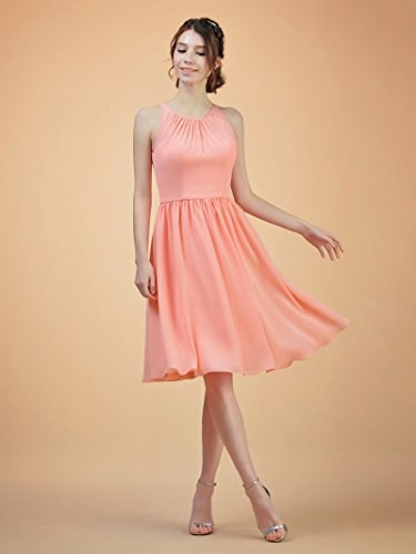 Line Chiffon Short Dress Back Prom Bridesmaid Open Evening Party A Alicepub Gown Yellow qUXdxwHnEE