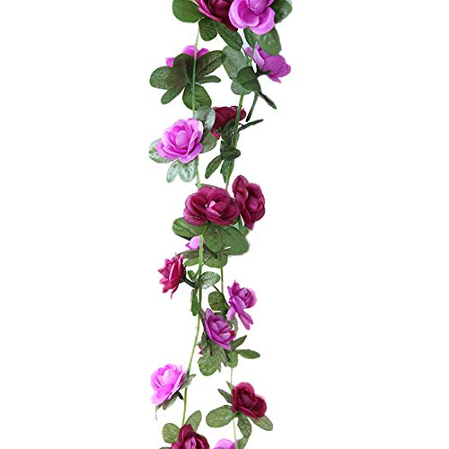 - Gyswshh 1Pc Artificial Flower Vine Garland Garden DIY Party Home Office Wedding Decor Purple