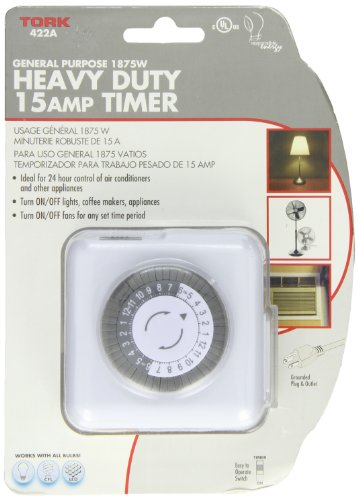 400A Series Indoor General Purpose Mechanical Heavy Duty 24 hour Timer, Grounded Plug, 15 Amp Current, 30 Minutes by TORK a brand of NSi Industries, LLC (Image #1)