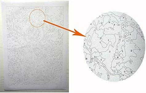 Shumo Peinture Num/éRique Color/é Animaux Tigre DIY Peinture par Num/éRos Kits Peinture sur Toile Peint /à la Main Peinture /à lhuile Maison D/éCoration Murale Cadeau 40 X 50 Cm