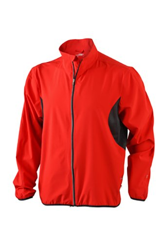 de ligera hombre negro Chaqueta rojo para running Af1dOZwqTZ