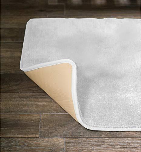 American Pillowcase Soft, Durable No-Slip Memory Foam Bath Mat Rug 20 x 36 Inch, White